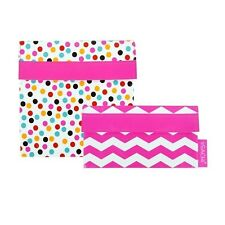 Sachi Reusable Sandwich/ Snack Lunch Pockets Set of 2 - Pink Confetti