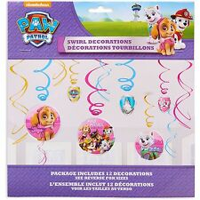 Paw Patrol Girls Swirl Decorations Ceiling Dangler Birthday Party Supplies Favor