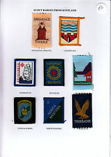 Boy Scout Badges from SCOTLAND x 8 inc Ext ANNANDALE ESKDALE