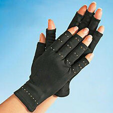 1 Pair Useful Half Finger Copper Hands Arthritis Gloves Therapeutic Compression