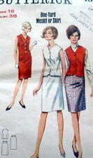 LOVELY VTG 1960s WESKIT & SKIRT BUTTERICK Sewing Pattern 16/36