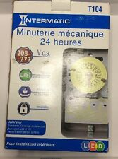 New Intermatic T104 24 Hour Mechanical Timer Switch 40 Amp 208-277V DPST Indoor