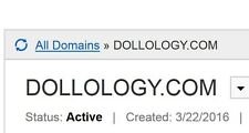 FOR SALE Dollology.COM Premium Domain Name Doll Collector Dolls Sales Info site