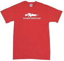 Zombie Repellent M16 Machine Gun Logo Mens Tee Shirt Pick Size Color Small-6XL