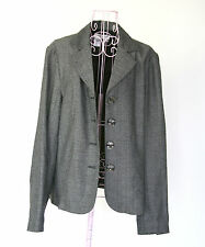 Coldwater Creek Women's Medium Gray Blazer Jacket with square buttons Career
