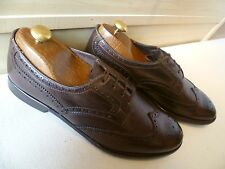 Paul Smith full leather brogue UK 8 42 mens brown wingtip derby Made in Italy