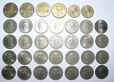 TAIWAN: $1643 Dollars in coins only 7 x 50 1992, 96, 2002, 04. 29 x 10 1981. TWD