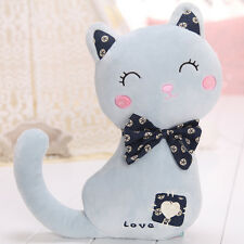 Long tailed cat Doll Cushion Soft Stuffed Plush Pillow Cute Sofa Home Toy Gift