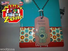Care Bear Dog Tag Necklace - Grumpy But Cute