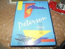 ORIGINAL 1990 PETERSON MIDDLE SCHOOL YEARBOOK/ANNUAL/JOURNAL/SUNNYVALE, CALIF