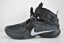 MenS Nike Lebron Soldier IX 9 Basketball Shoes Size 15 Black Silver 749417 001