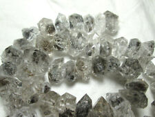10-15 mm 16 pollici con doppia terminazione Rutilato Quarzo Tipo di Herkimer Diamante Perline