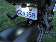 Clear Motorcycle Sticker 5 LED White Light License Plate Lamp Black ZX10r