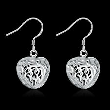 China Wholesale Fashion 925 Silver Filled Hollow Heart Earrings Fine Jewellery