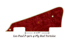 Les Paul LP RED Tortoise Studio Model P90 Pickguard Gibson Guitar Project New
