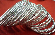 Silver Metal BanglesParty Wear Indian Fashion Bangles Traditional Jewelry- 24pcs