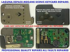 Repair Service For Renault Keycard - Laguna, Megane, Espace, Scenic
