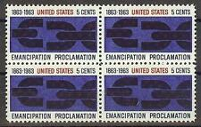 US 1963 Sc# 1233 Lincoln's Emancipation Proclamation block 4 MNH