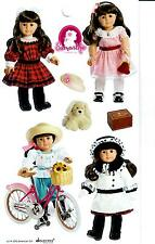 AMERICAN GIRL SAMANTHA BEFOREVER STICKERS! MEET~FANCY COAT~BICYCLING~HOLIDAY!