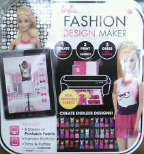 Barbie Fashion Design Maker Doll Create Computerize Printable Fabric Skill Build