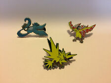 3 LEGENDARY BIRDS PIN LOT-Articuno Moltres Zapdos -Pokemon COLLECTOR'S PINS NEW