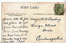 Genealogy Postcard - Family History - Burling - Over - Cambridgeshire    A1504