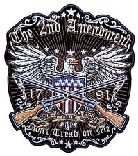 Medium Patriotic The 2nd Amendment, Don't Tread On Me American Eagle Biker Patch