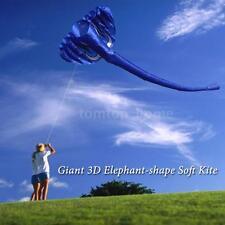 380*200cm 3D Children Adults Giant Elephant Kite Soft Frameless Single Line T5C9