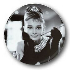"Audrey Hepburn - 25mm 1"" Button Badge - Breakfast at Tiffanys', Holly Golightly"