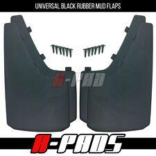 "4 Pieces Black Universal Rubber Mud Flaps 15"" X 9"" Front & Rear Mud Flap Set"