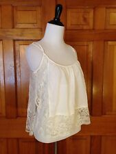 Intimately FREE PEOPLE White Sheer LACE Cami Camisole Size S P Small Petite
