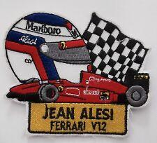 Aufnäher JEAN ALESI Ferrari V12 F1 Helm Zielflagge Patch Rennanzug Overall