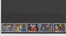 Set 5 GB Great Britain Stamps Christmas 1992 Mint in folder