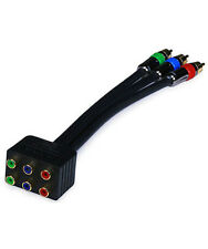 3 RCA Cable Splitter 2 way 3 RCA Male to 6 RCA Female RG-6 Component Video New