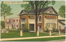 Doctors Hospital in Poplar Bluff MO Postcard