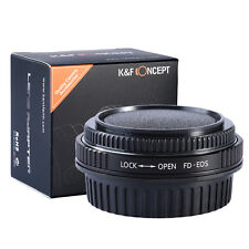 FD-EOS For Canon FD Lens to EOS EF Mount Adapter Ring Glass focus  infinity