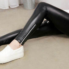 Sexy Femme Fille Pantalon Leggings Cuir Jambière Crayon Collant Jegging Souple