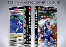 MEGAMAN X. JAPAN VERSION. Box/Case. Super Nintendo. BOX + COVER. (NO GAME)