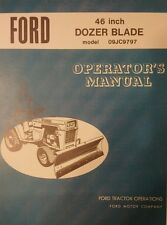 """Ford LGT Dozer Blade 46"""" Lawn and Garden Tractor Operators Manual 8pg Jacobsen"""