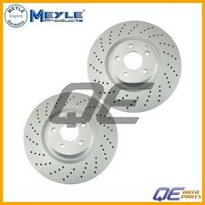 2 Front Mercedes W219 W211 R230 CLS55 AMG E55 Disc Brake Rotor Meyle 40433184