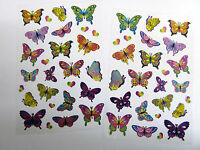 Butterfly Butterflies Stickers Kids Labels for Craft Decoration Card-Making FL01