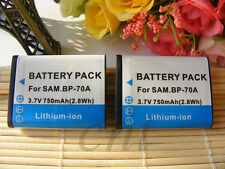 TWO BP-70A Battery for Samsung ST60 ST70 TL205 SL630 New