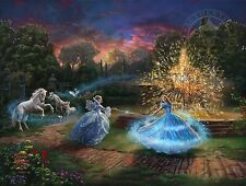 Thomas Kinkade Cinderella Wishes Granted – LMT ED Paper 9x12 Artist Proof