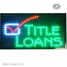 """24x13"""" Title Loans Mortgage Home Boat For Sale Real Estate LED Open Sign neon"""