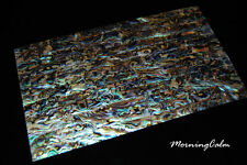 2 Sheets of Blue Paua Veneer (Shell Overlay Inlay MOP Abalone Mother of Pearl)