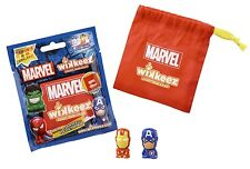 Wikkeez Marvel - Sealed Collector Bag Pack (2 Figures + Carry Bag)