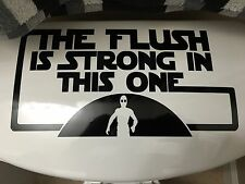 Star Wars Bathroom Home Decor: Toilet Decal The Flush Is Strong In This One