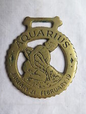 HORSE BRASS of AQUARIUS the WATER CARRIER STAR SIGN EXCELLENT c1980