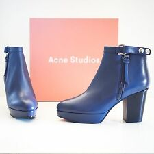 "Acne Studios Blue Leather ""Orbit"" boots EU 40 US 10"