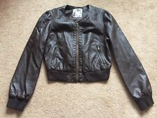 Newlook Brown Faux Leather Jacket UK Size 14 Worn Once VGC !